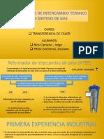 Reformador de Intercambiador Termico en Gas de Sintesis