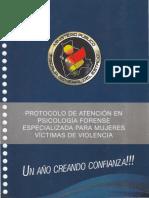 Protocolo de Atención en Psicología Forense Especializada Para Mujeres Víctimas de Violencia