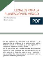 Bases Legales Para La Planeación en México