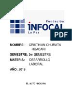 Impuestps a Utilidades de Empresas Cristhian Churata Huacani