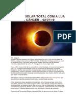 Eclipse Solar Total Com a Lua Nova Em Câncer