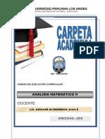 Carpeta Academica Analisis Matemático IV
