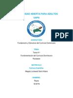 Tarea I Fundamentos Del Currículo Dominicano