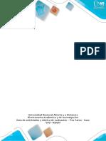 """Actividades y Rúbrica de Evaluación – Pos Tarea - Caso """"IPS –VIVIR"""""""