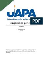 Tarea v de Lingusitica General