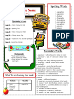 back to school newsletter august 19-23