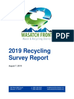 2019 WFWRD Recycling Survey Report