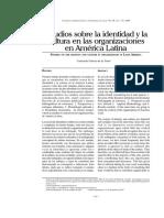 Estudios sobre la identidad y la cultura en las organizaciones de América Latina