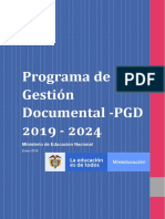 Plan Para La Formulacion de Programas de Gestion Documental