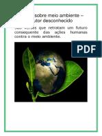 Poesia Sobre Meio Ambiente