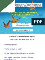 INTRODUCCION A LA INGENIERIA SANITARIA Y AMBIENTAL 1a clase.ppt