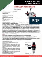 Nf7010 Man Compresor Para Aerografo