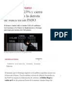 El Dólar Salta Tras La Derrota de Macri en Las PASO