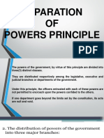 1. Separation of Powers