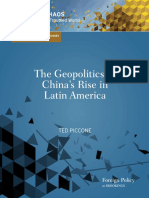 The Geopolitics of Chinas Rise in Latin America Ted Piccone