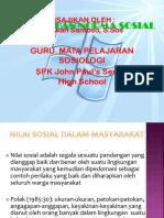 PPT Materi Sosiologi Kelas X. Bab 2. Nilai Dan Norma Sosial (KTSP)