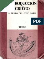 Del Pozo Ortiz, Alberto - Introducción Al Griego