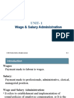 Unit 1 Wage and Salary