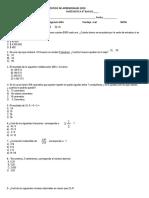PRUEBA DE DIAGNOSTICO MATEMÁTICA 6
