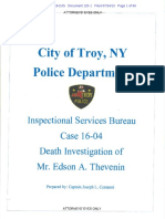 TPD Internal Affairs Report on the Death Investigation of Edson Thevenin