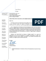 Letter - Mayor Lee - CNLV - Notice of Non-Eligible Resident Commissioner - Teresa Davis - Aug 12 2019.docx.pdf