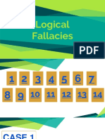 2018 2019 Logical Fallacies Cases
