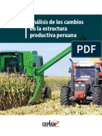 Análisis de Los Cambios en La Estructura Productiva Peruana CEPLAN