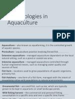 Terminologies in Aquaculture