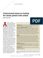 Rada, R. E. Controversial Issues in Treating the Dental Patient With Autism.