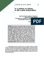religião e política na grécia, das origen até a pólis