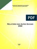 Projeto Comunitario Relatorio de Atividades 2006