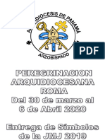 Peregrinacion Simbolos Jmj Roma 2020