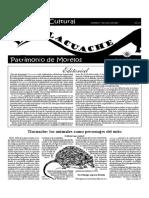 El Tlacuache suplemento cultural del INAH. No. 1.