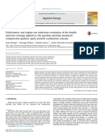 Performance and Engine-out Emissions Evaluation of the Dou