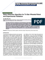 Stairs Detection Algorithm for Tri-Star Wheeled Robot and Experimental Validation