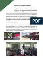 Práctica de Campo de La Zona Rural