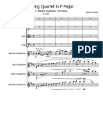 StringQuartetFMajor Ravel Score and Parts