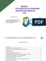 MANUAL  IMPLEMENTACION  DE UN PROGRAMA DE GESTION DOCUMENTAL