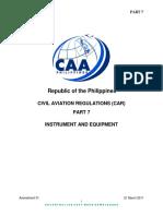 PCAR Part 7 - Instruments & Equipment