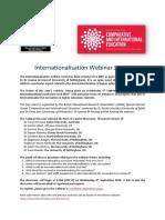 Internationalisation Webinar 2019 Announcement