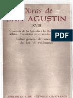 Obras de San Agustín Tomo I