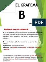 Uso Del Grafema b