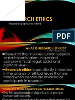 RESEARCH  ETHIC