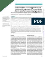 Cetoacidosis Diabetica e Hiperosmolar hyperglycemic syndrome