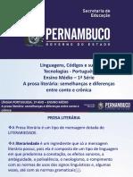 A Prosa Literária Semelhanças e Diferenças Entre Conto e Crônica.