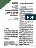 Administração pública como área de conhecimento e ensino