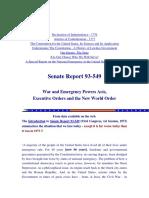 Emergency War Powers - No More Congress