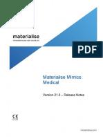 ReleaseNotes MimicsMedical 21.0