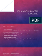 Risk Analysis in Capital Budgeting