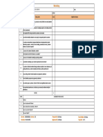 Internal Audit Checklist - Marketing